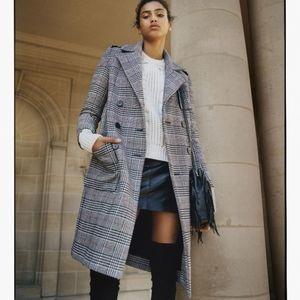 Maje Gilbert Plaid Coat Size 38
